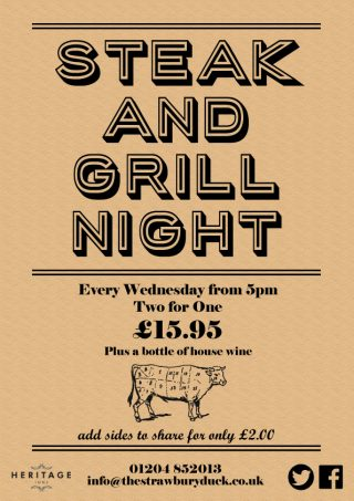 Wednesday is Steak & Grill Night